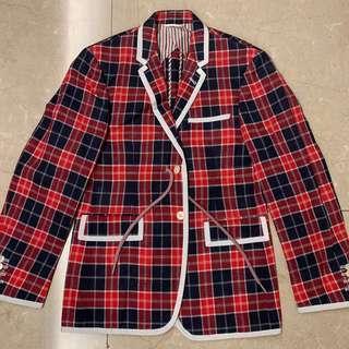 Thom Brown Red Blue Checker Jacket