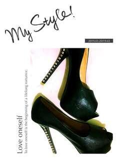 Party Diamond Black Heels#highheels#sepatupesta#hitam#permata#sepatumurah