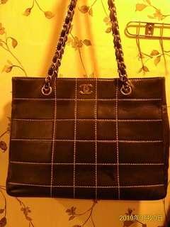 🚚 Chanel 香奈兒 銀鍊 粗線 時尚包