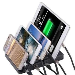 MULTIFUNCTIONAL 48W 4-PORT USB 9.6A OUTPUT CHARGING STAND