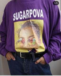 vintage tumblr purple sweatshirt