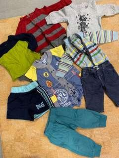 🚚 Baby clothes bundle (7 pieces). Long sleeve rompers for boys. Shorts and pants for boys.