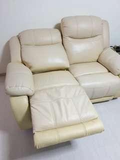 🚚 Used reclining 2 seater leather sofa