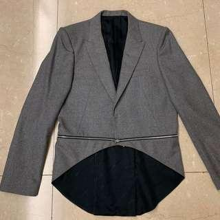 John Lawrence Sullivan Grey Jacket with Zipper