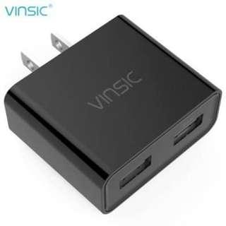PORTABLE DUAL USB PORT SMART TRAVELLING WALL CHARGER ADAPTER