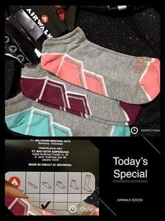 AIRWALK 3Pairs Socks#kaoskaki#nyaman#lembut#mixcolour#original