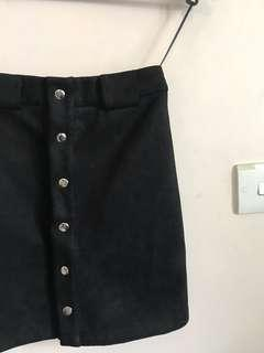 JOEYL Suede Button-Up Skirt