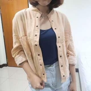 Pastel Orange Denim Outer