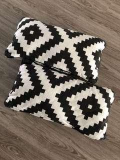 Pair of IKEA Lappljung Ruta Cushions