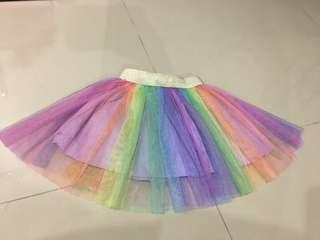 Colourful tutu skirt