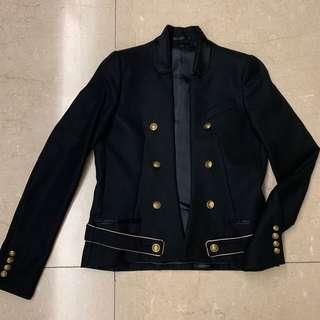 Ato Black Jacket with Gold Buttons Trim