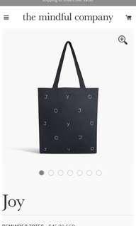 BNWT the mindful company JOY tote bag