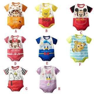 🚚 Baby Cartoon Cotton Romper