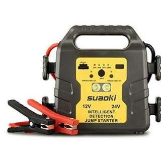 E461 Suaoki G19 1000A Peak 12/24V Vehicle Jump Starter Battery Booster Power Pack ( All Gas or Up to 6L Diesel Engine)