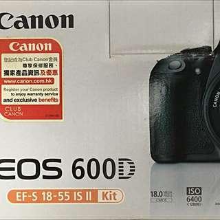 Canon EOS 600D kit (EF-S 18-55 IS II)