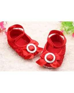 3D Rose Baby Shoes