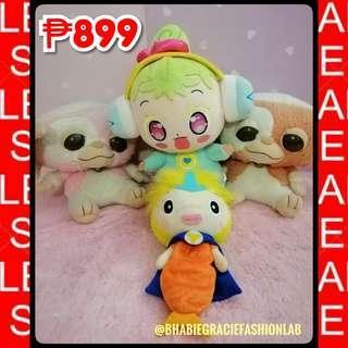 Assorted Character Stuffed Toys Bundle