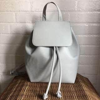 Bershka Minimalist Gray Backpack