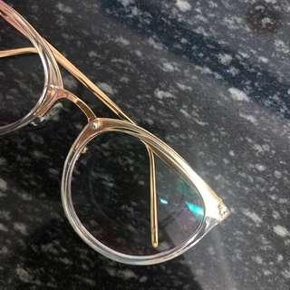 🚚 [bnib] gold rim transparent -3.25 / 325 degree glasses