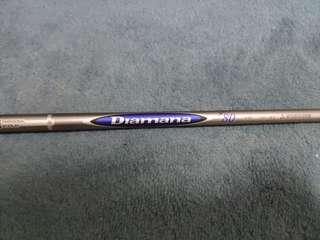 Diamana blueboard S+ hybrid shaft.