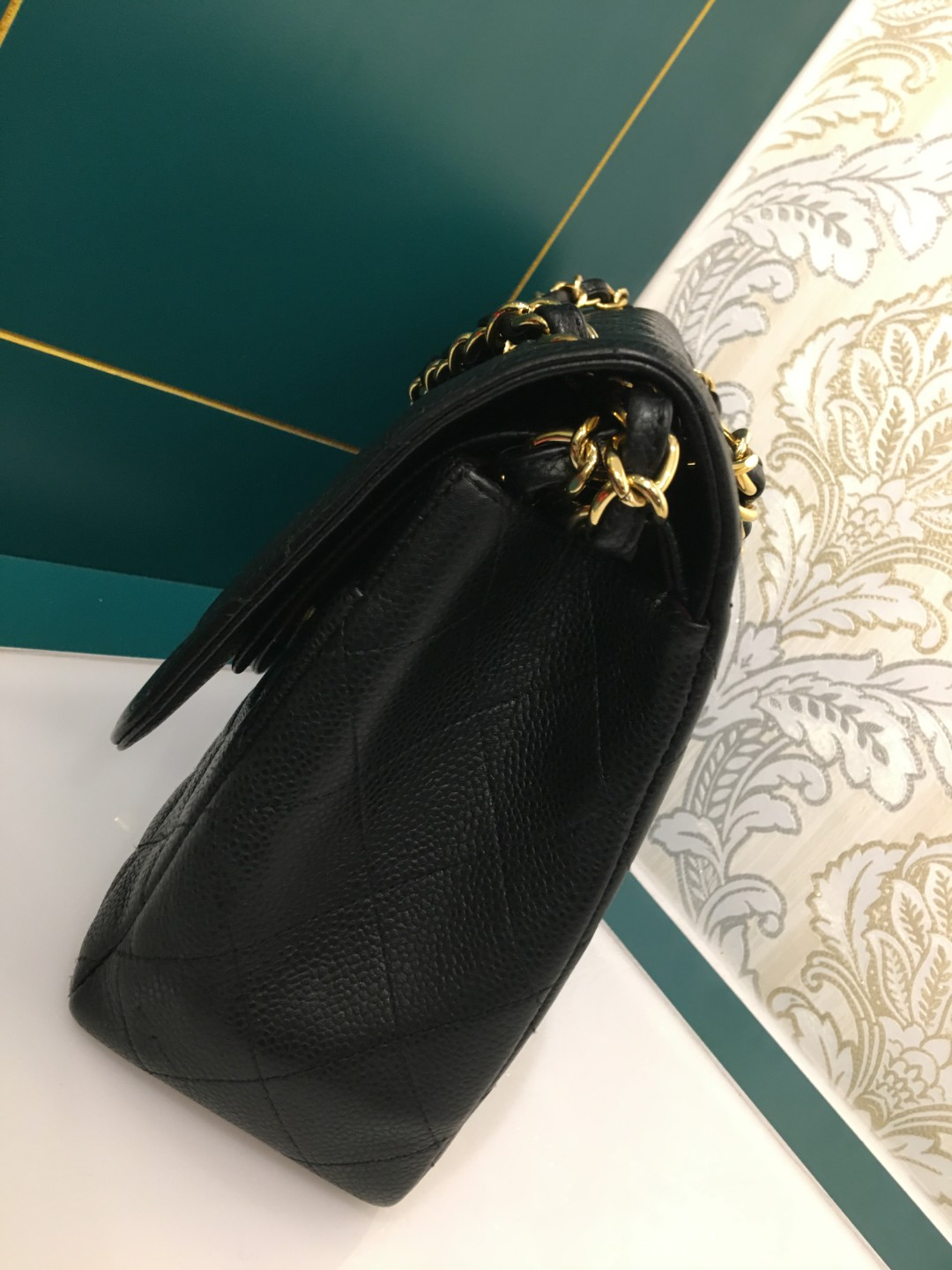 c9b806ac1aa8 ❌Reserved❌#22 Chanel Jumbo Classic Double Flap Black Caviar with GHW,  Luxury, Bags & Wallets, Handbags on Carousell