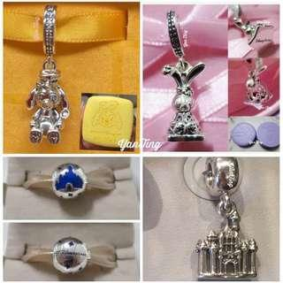 🚚 Pandora Hong Kong Disneyland Exclusive Charms