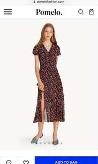 🚚 (BNWT)Pomelo Midi Front Slit Ruffled Floral Dress - Red