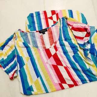 🚚 Topshop Rainbow Tunic