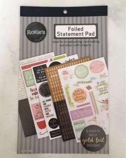 🚚 Foiled Statement Scrapbook Sticker Pad