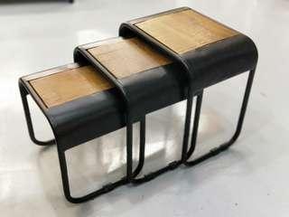 KUWARA INDUSTRI Series 3pc Nesting Table