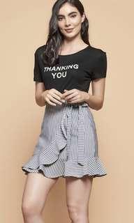 🚚 Stripes Ruffles Skirt
