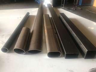 🚚 (個人客製化)鐵管 不鏽鋼、黑皮、白鐵:圓管、長方管、橢圓管、扁管、方圓管,正方管、有無內刮