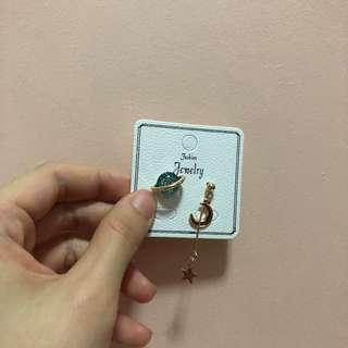 Minimalistic space earrings