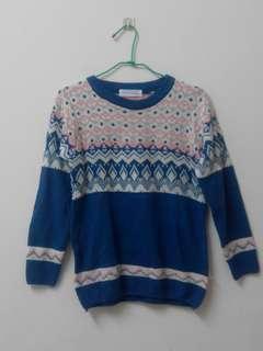 時尚格紋毛衣