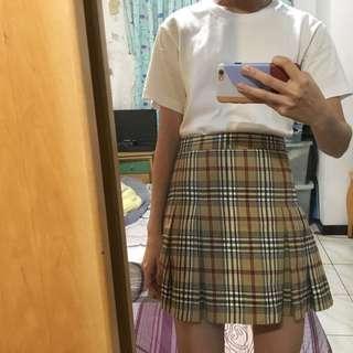 🚚 格紋百褶裙 毛呢