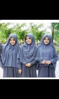 Hijab pet instan tali 3 in 1 maroon