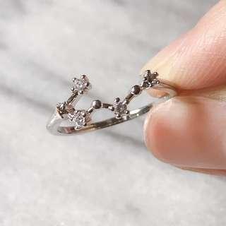🚚 韓國🇰🇷雙子座水鑽戒指💍