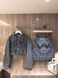 🚚 Denim Jacket and Skirt