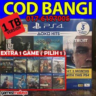 [NEW] PS4 SLIM 1 TB HITS BUNDLE + 1 EXTRA GAME- (GAMEZMALAYA)