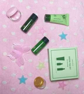 Innisfree green tea kit for morning