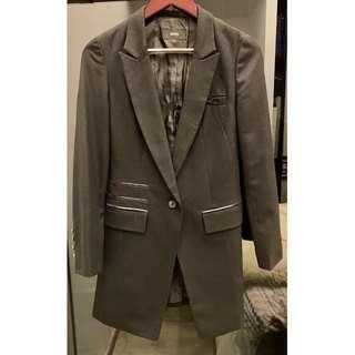 Korea QUA high fashion long black blazer size S