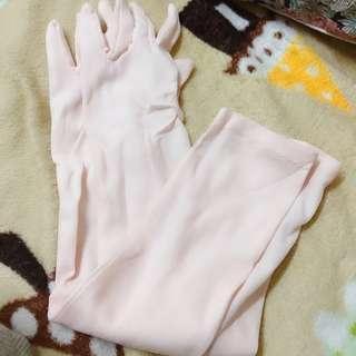 免費贈送 花朵粉紅防曬手套