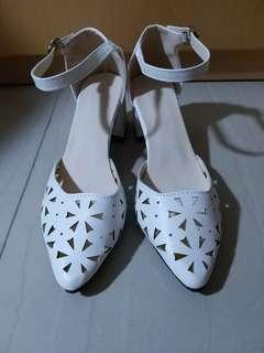 女神鞋 白色 優雅 高跟鞋