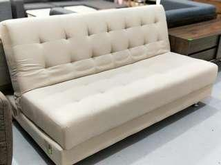 EVOCA Multi Storage Sofa Bed in BEIGE FABRIC