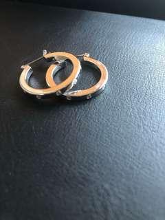 Sliver diamond earring