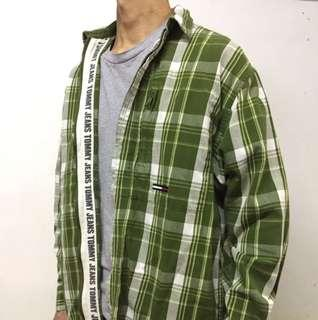 Vintage Tommy Hilfiger Jacket Green Plaids 90s 格子 古著 復古 外套