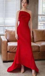 BN Wine Red Statement Evening / Wedding Maxi Dress