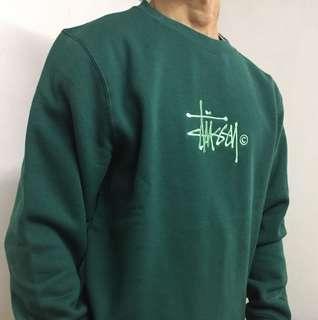 Vintage Stussy Hoodie Green Logo Sweatshirt 衛衣 復古 古著 supreme