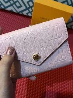 lv victorine wallet empreinte rose ballerine