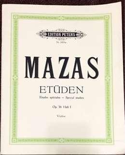 Mazas Etudes special studies for violin